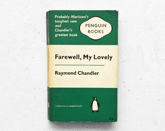 FAREWELL, MY LOVELY by Raymond Chandler | Vintage Penguin Paperback Book - 1961 | Philip Marlowe Detective Story | Classic Crime Fiction