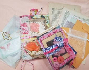 """Mini Junk Journal Bundle , Includes both A-6 and passport sizes, """"Imagine"""""""