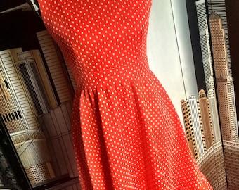 Sometimes Minnie is my muse - 70s red polka dot dress