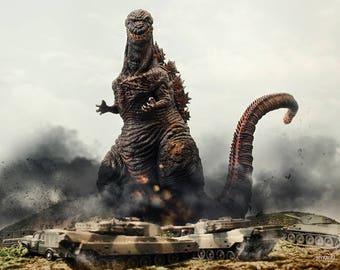 "10""x8"" Print of MyKaiju Toy Photography Shin Godzilla"
