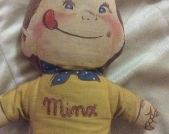 1953 General Foods Minx Cloth Doll soft stuffed Advertising Doll