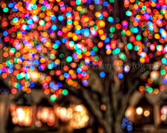 Christmas Lights Background Digital Download