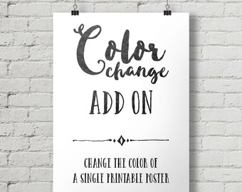 Request a Color Change For a Single Printable Poster