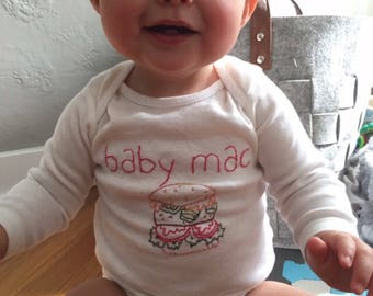 BabyMac Cheeseburger Onesie