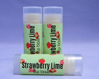 Strawberry Lime Lip Balm, Strawberry Lime Lip Butter, Strawberry Lime Chapstick, Organic Lip Balm