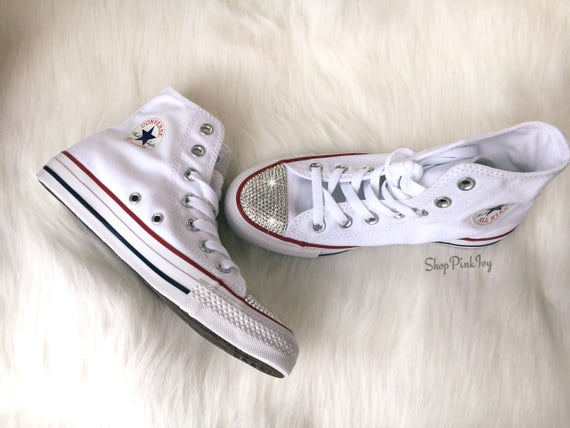 ... Chuck Converse High Casual Swarovski Taylor Women s Crystals Top with  Customized Shoes P51wS7xdSq 261cf2fb7