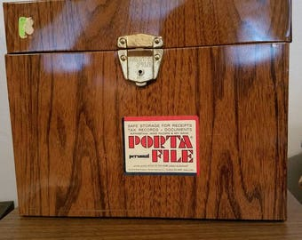 Vintage Wood Grain Porta File