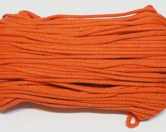 Orange cotton cord 100 m (110 yd) 5 mm (0,2 in), cotton rope, macrame cord