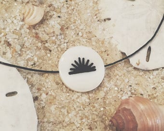 Hand-Painted Sunset Necklace