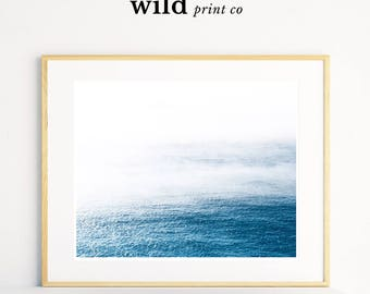 Ocean Cloud Print, Sea Wall Art, Ocean Landscape Print, Modern Minimalist Print, Modern House Art, Blue Ocean, Cloud Print