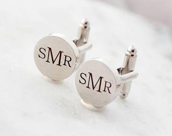 Engraved Cuff Links - Custom Personalized Cufflinks, Gift for Dads, Gift for Men Personalized Cuff Link Gift Groom Groomsmen Cusom Cuff Link