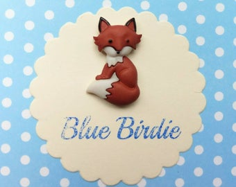 Fox brooch fox jewelry fox badge sitting fox brooch fox jewellery cute fox jewelry fox gifts