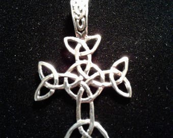 Sterling Silver Celtic Cross Charm (1318)