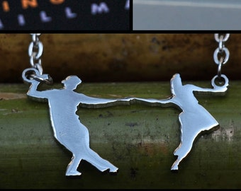 LINDY / SWING DANCE Couples Necklace Fig #1 w chain dance  fashion jewelry, dance accessories, fashion accessories, chains, pendants,