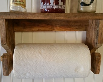 reclaimed wood mug rack urban rustic. Reclaimed Solid Oak Rustic Primitive Paper Towels Holder Hand Crafted Lemon Oiled Wood Mug Rack Urban A
