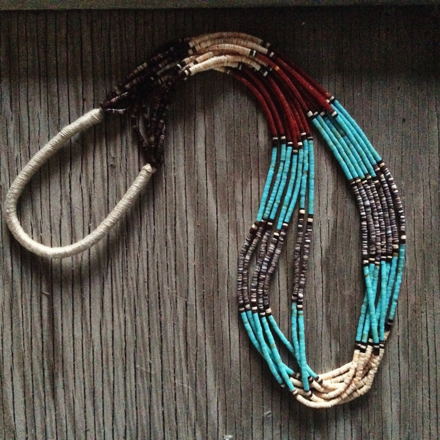 necklace lita kingman atencio necklacewith turquoise domingo artist jewelry indian santo pueblo product by with heishi