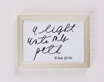 Calligraphy Print - A Light Unto My Path