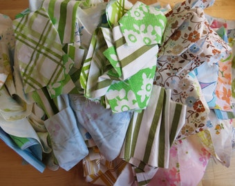 Vintage Sheet Scrap Bags - 1 lb of Scrap Fabric - Quilting Scraps