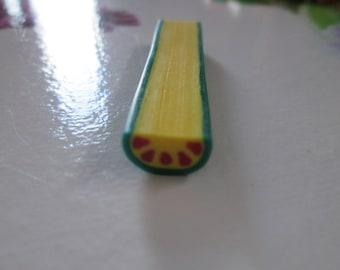 large 1 cm 1/2 citrus fruit fimo cane