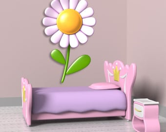 Wall decals flower A055 - Stickers fleur A055
