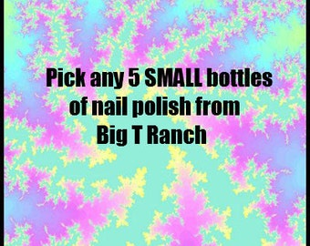 Pick ANY 5 SMALL SIZE Bottles Nail Polish - Free U.S. Shipping - Glitter Color Changing Nail Polish Lacquer - 8ml Small Sized Bottle