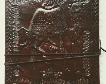 "9""x 6"" Leather Journal embossed with a Camel. Notebook, Diary, Guest Book, Sketch Book,"