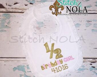 1/2 Birthday Bubble, Tee, Gown, Romper, Bib or Bodysuit