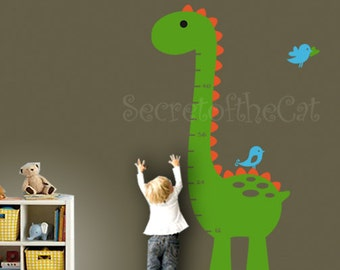 Nursery wall decal - Wall Decals Nursery- Kids Growth Chart - Dinosaur Growth Chart Decal - Nursery wall decal- Growth Chart Nursery