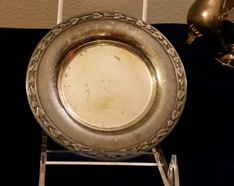 Vintage Oneida Small Silver Plated Bowl Shallow Leaf Pattern