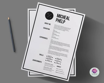 CV Template / Resume Template , Cover Letter Template , Reference Letter  Template ( Minimal Design