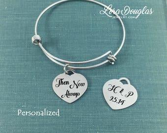 Heart Jewelry, Engraved Heart Jewelry, Engraved Jewelry, Heart, Silver Heart Bracelet, Anniversary Gift, Heart Bracelet, Wedding Jewelry