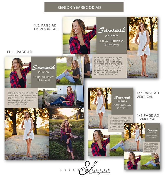 Collage de anuncios de Anuario Anuario de graduación altos