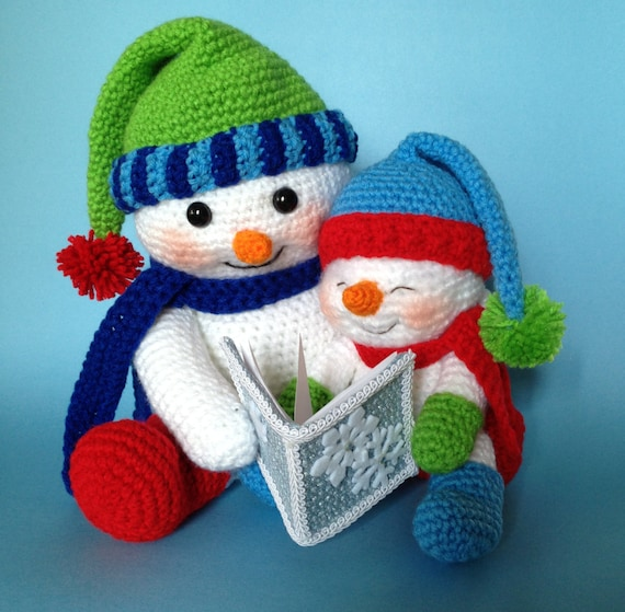 Pdf Crochet Pattern For Reading Snowman English Only