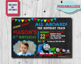 Thomas Train Invitation Thomas Train Birthday Thomas Train