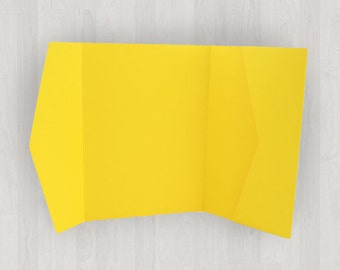 10 Horizontal Pocket Enclosures - Yellow - DIY Invitations - Invitation Enclosures for Weddings and Other Events