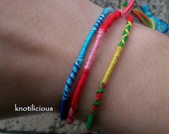 Wrap Friendship Bracelet   Custom Color Wrap Bracelet   Random Color Wrap Bracelet