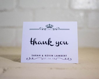 Kyleigh Thank You Cards, Royal Greeting Cards (Package of 25)