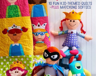 Happy Quilts! book by Antonie Alexander, make quilts and soft toys for kids. 10 different Quilts and Toys, comes with CD