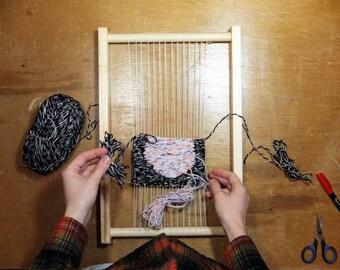 """Handmade Wooden Frame Loom - 12"""" x 18"""" - Tapestry Weaving"""