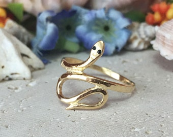 20% off- SALE!!! Gold Snake Ring - Animal Jewelry - Silver Snake Ring - Band Ring - Simpe Jewelry - Serpent Ring - Vintage Style