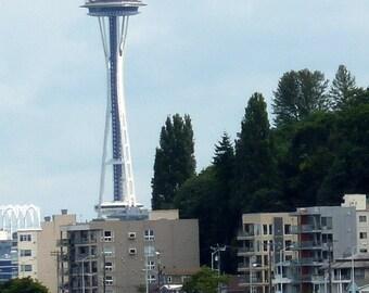 Photo of space needle taken from West Seattle Washington