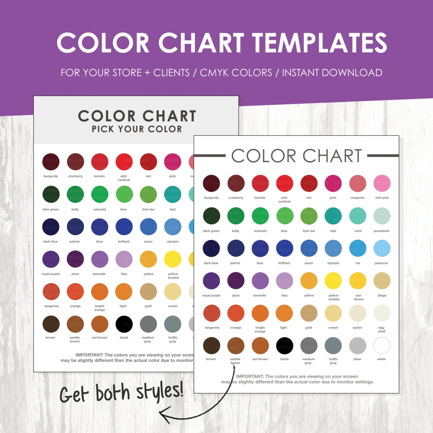 Color chart color chart template color palette instant zoom nvjuhfo Gallery