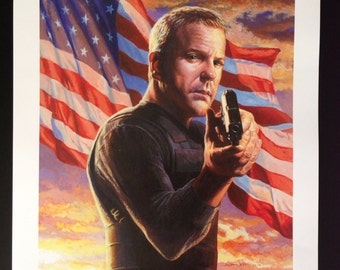 24s Jack Bauer print from original painting by Scott West of Weststudio3