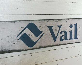 Vail Resort Sign, Handcrafted Rustic Wood Sign, Ski Resort Sign, Mountain Decor for Home and Cabin, 1129