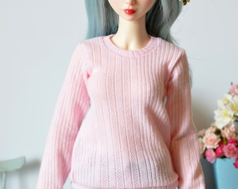 Pink sweater for your Feeple60, Delf and similar sized SD BJD doll