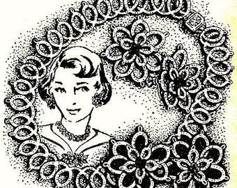 Necklace - Earring Set Tatting Pattern 1957 Vintage 729003