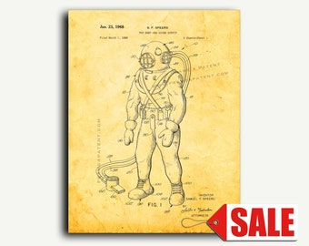 Patent Art - Toy Deep Sea Diver Outfit Patent Wall Art Print