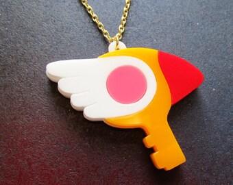 Large Cardcaptor Sakura Clow Key Card Cosplay Pendant Necklace