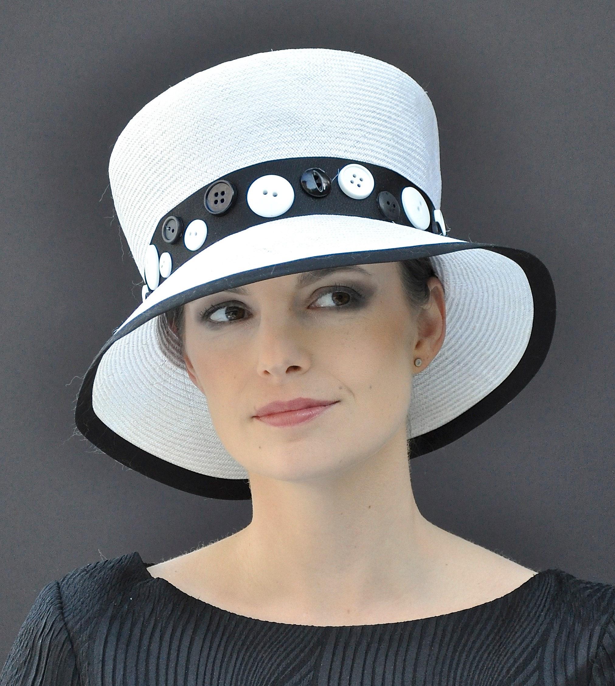 Wedding Hat, Black And White Hat, Formal Hat, Church Hat