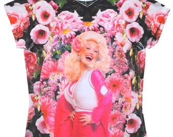Pink Floral Dolly Parton Shirt